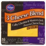Store Brand Cheese Singles Three Cheese Blend 16ct 12oz