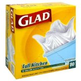 Glad Tall Kitchen Bags, Quick Tie 80 ct box